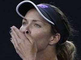 danielle collins out to put petra kvitova in the doghouse during their australian open semi