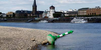 europe's mightiest river is drying up, causing a recession in germany. yes, really.