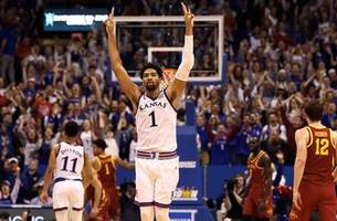 Dedric Lawson records 29 point double-double in No. 9 Kansas' win over No. 24 Iowa State