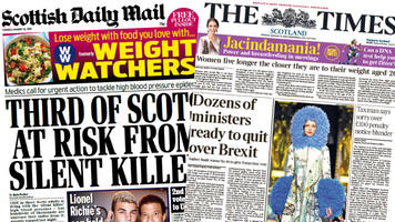 scotland's papers: 'silent killer' and brexit resignation threats
