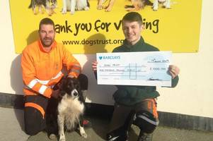 Old unwanted Christmas trees help raise hundreds for Ilfracombe Dogs Trust