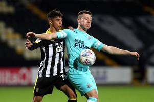 notts county's tyreece kennedy-williams taken to hospital after suffering injury for magpies' under-23s