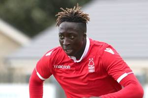 virgil gomis hits hat-trick as nottingham forest under-23s thump exeter city