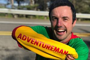gloucester 'adventureman' jamie mcdonald has less than 40 marathons to go