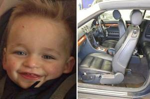 gravesend mum's boyfriend 'ran away after crushing toddler alfie lamb to death with car seat'