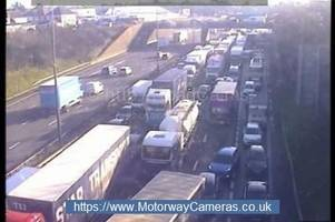 Live M25 Dartford Crossing traffic updates as one tunnel completely closes after crash
