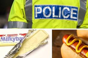 Man assaults police officer after stealing booze, Milky Bars and a hot dog on Boxing Day