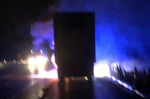 latest traffic news sees two lanes of m6 closed due to vehicle fire