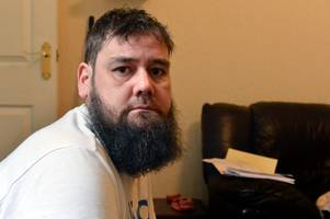 homeless fear for benefits dad who has not been paid esa for six months - 'because he was in hospital'