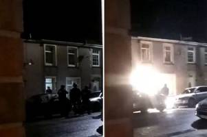 armed police use taser and baton round to storm into house on pontypridd street