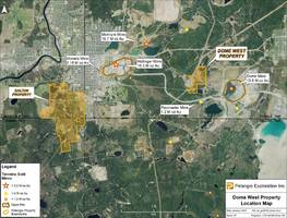 Pelangio Exploration Acquires Dome West Property Adjacent to the Dome Mine Property in the Timmins - Porcupine Gold Camp