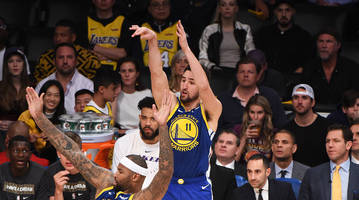 klay thompson adds another record to warriors' list after historic three-point shooting night