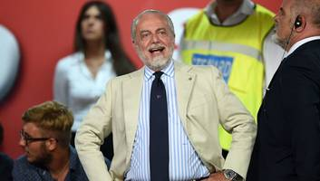 napoli president aurelio de laurentiis claims teams finishing last in serie a should be fined