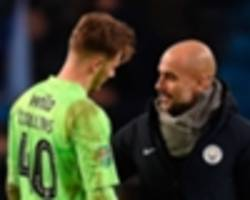 collins reveals what guardiola said to him after chelsea loanee conceded nine goals against man city