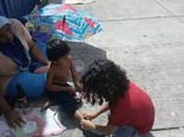 heartwarming moment nine-year-old gives his shoes and socks to barefooted homeless boy