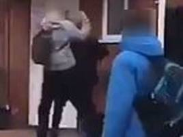 horrifying footage shows autistic schoolboy being punched to the ground in blackpool