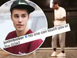 Justin Bieber tells Chris Brown 'no one can touch you' after rapper denies rape accusation