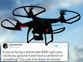 newark airport resumes operations after two hour standstill due to drone sighting