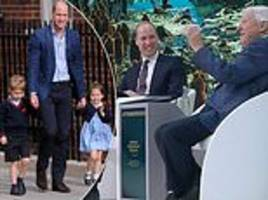 prince william joked children are 'unpredictable' as he compares them to glaciers melting