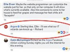 sassy argos worker hits back at woman over complaints that out of stock items were still on website