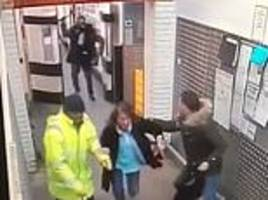 terrifying moment man chases tesco customers with an axe at supermarket in south london
