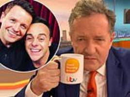 piers morgan questions ant and dec's nta win because 'hasn't worked in a year'