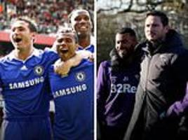 derby post 10 year challenge as new signing cole trains under lampard