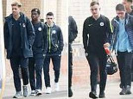 man city youngsters join team-mates for train to burton
