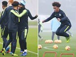 shaun wright-phillips' son d'margio shares embrace with raheem sterling