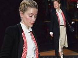 Amber Heard opts for androgynous chic as she steps out in Paris during Haute Couture Fashion Week