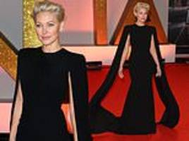ntas 2019: emma willis debuts peroxide blonde locks as she hits red carpet in glamorous caped gown
