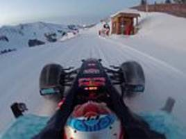 red bull take dig at uk snow by posting incredible video of verstappen driving close to cliff edge