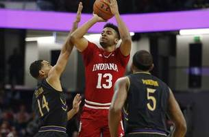Indiana can't stop Northwestern's Falzon in 73-66 loss