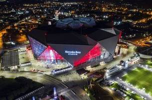 security inside stadium and out for super bowl in atlanta