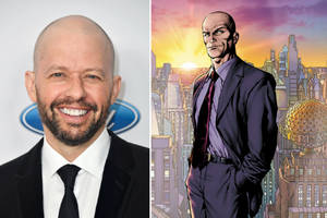 'supergirl': jon cryer plots his prison break in first look as lex luthor (photo)