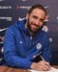 chelsea transfer news: gonzalo higuain becomes blues' first january signing