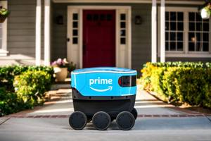 Amazon has made its own autonomous six-wheeled delivery robot