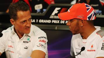 hamilton 'in a different league' but 'not even close' to schumacher