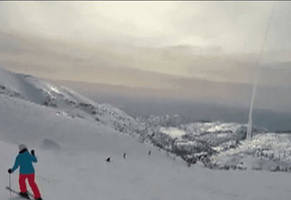 missile interception caught on snowboarder's camera.