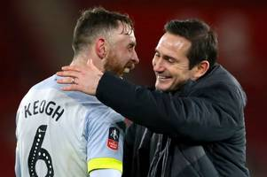 'a symbol of the club' - frank lampard stresses richard keogh's importance to derby county