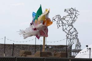 this is where banksy's iconic dismaland pinwheel is going to live permanently