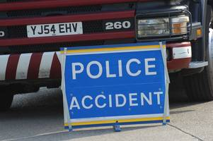 updated: road near stroud closed after six vehicles involved in crashes