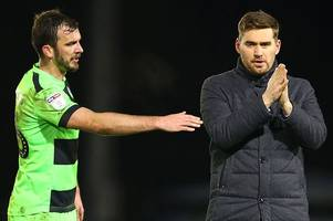 grimsby town manager michael jolley 'upset' with referee's decision in forest green defeat