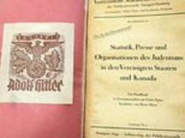 hitler's plans for a 'final solution' in north america: canadian archive finds book owned by hitler