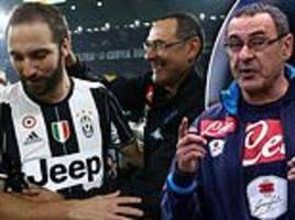 gonzalo higuain reveals he's relishing the chance to work under maurizio sarri again