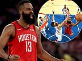 record-breaking james harden on fire again as he bags career-best 61 points