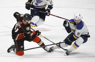ducks stumble into all-star break with 5-1 loss to blues