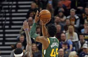 jazz dominate from perimeter, top nuggets 114-108