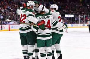 staal scores twice, wild cruise to 5-2 win over avalanche
