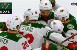 WATCH: Wild score five goals to beat rival Avs
